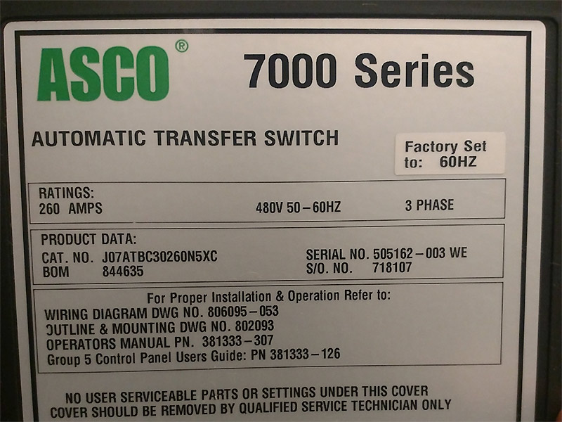 Asco 7000 Series Automatic Transfer Switch Wiring Diagram - Somurich