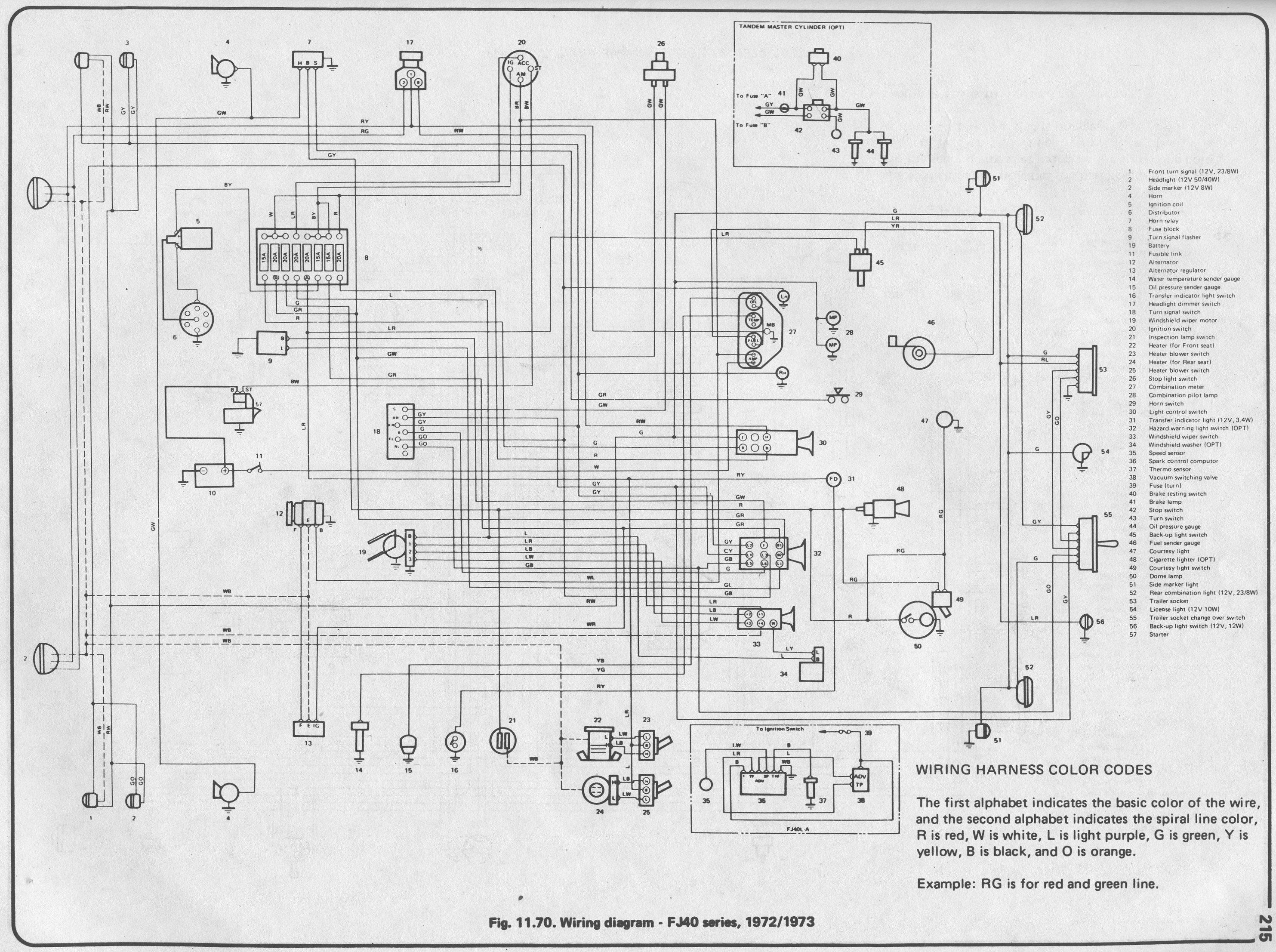 toyota land cruiser 1978 fj40 wiring diagram