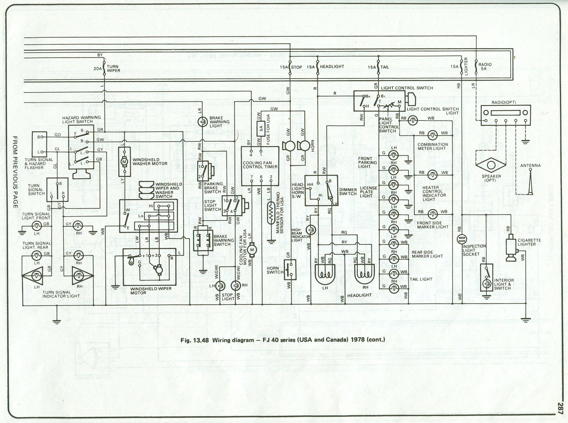 fj40 electrical schematics