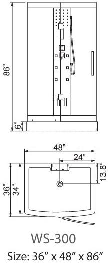 ariel steam shower installation manual