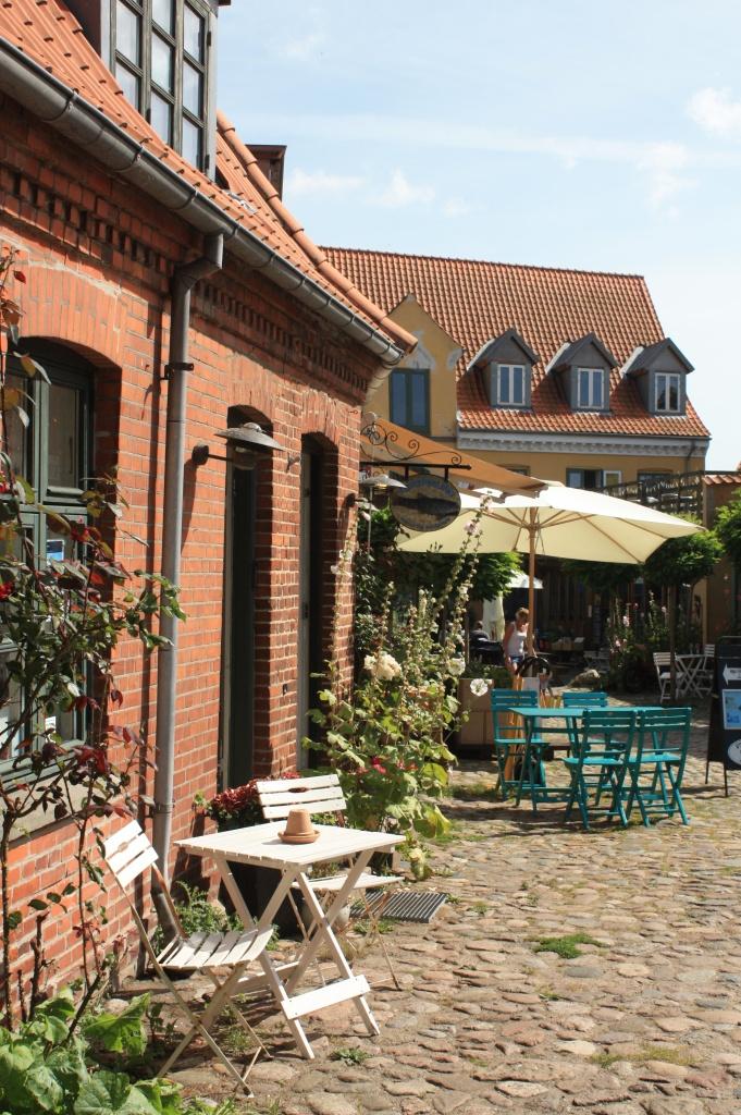 Petite cour à Stege - île de Møn - Danemark