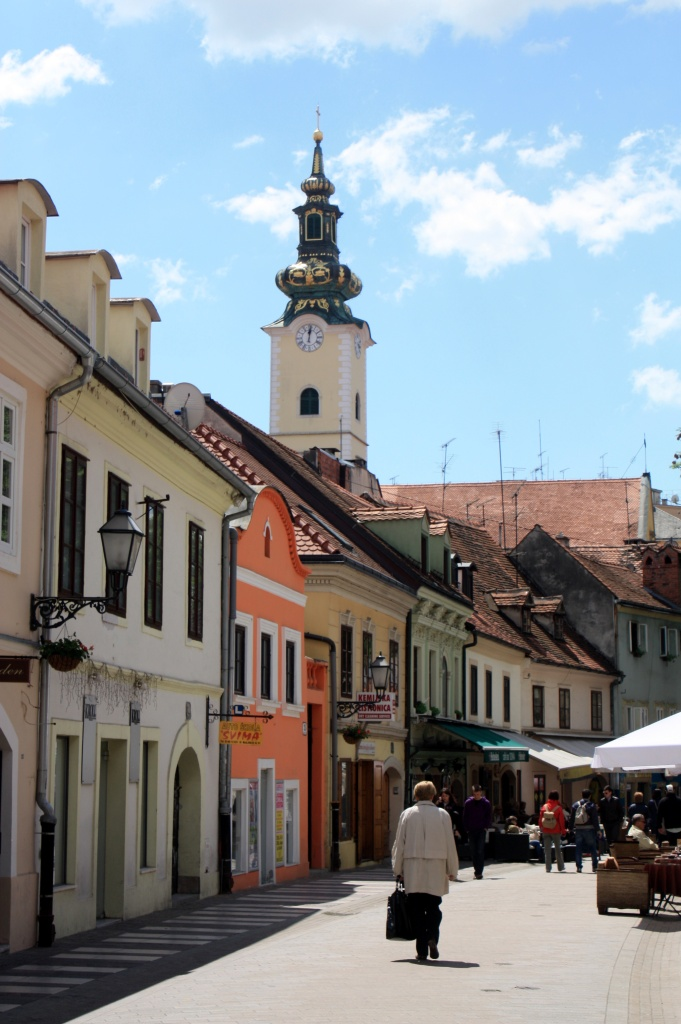 rue - zagreb - croatie