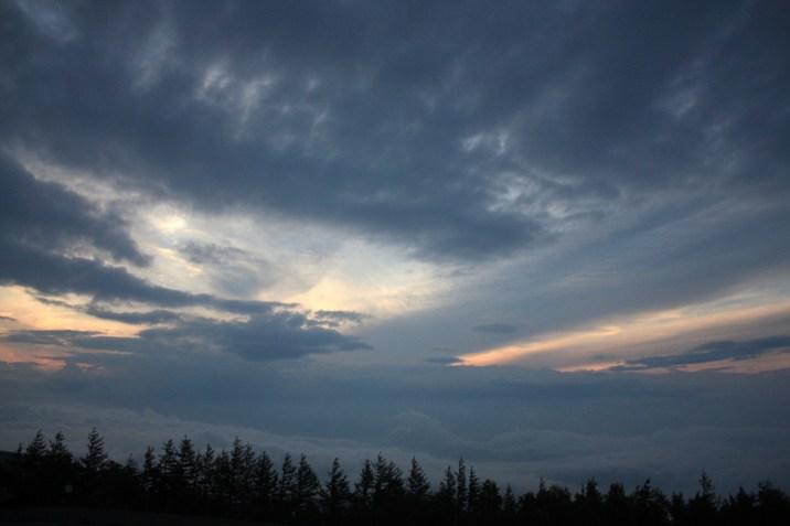 Coucher soleil Fuji - Japon