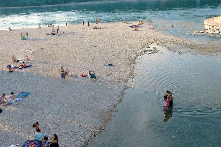 Nicht die Karibik, sonder der Strand am Birsköpfli (Foto: Basel Tourismus)
