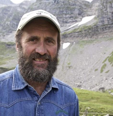 Der Älpler Sepp Waser von der Alp Oberfeld