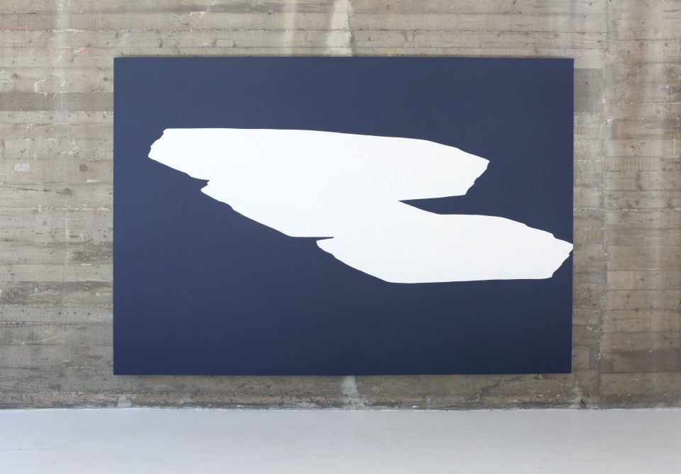 parallel-central-spaces, 2012, acrylic and paste on canvas, 200x290cm
