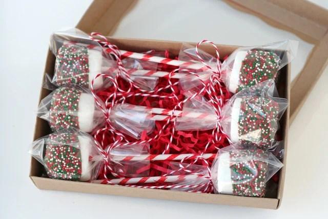 Christmas Marshmallow Pops Glorious Treats