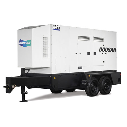 Picture showing a Doosan Generator