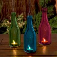 Glass Bottle Tea Light Holder