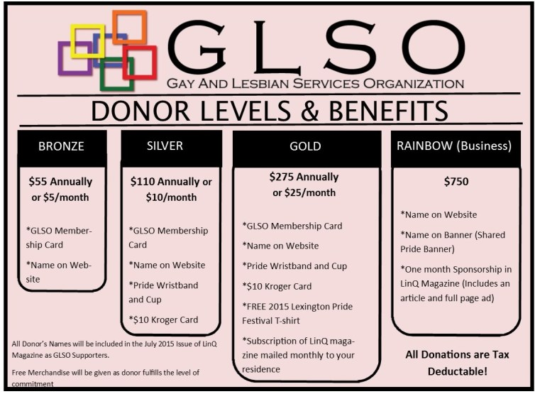 GLSO Membership Tiers