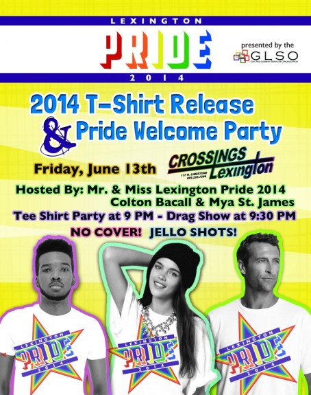 Pride 2014 T-Shirt Release Party