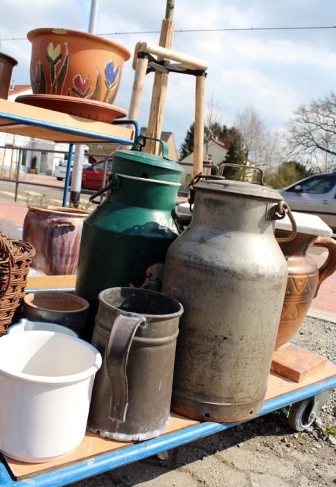 Milchkannen als Schirmständer gefällig? Gesehen bei: Antikes & Kurioses