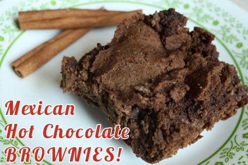 Vegan Mexican Hot Chocolate Brownies