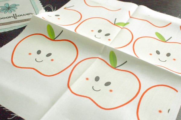 happy apple fabric