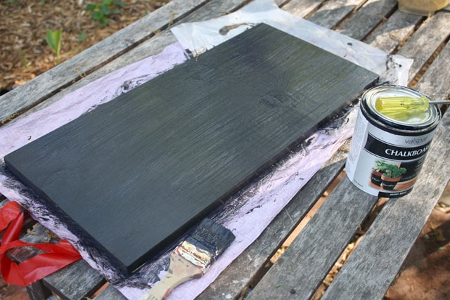 chalkboard painted board