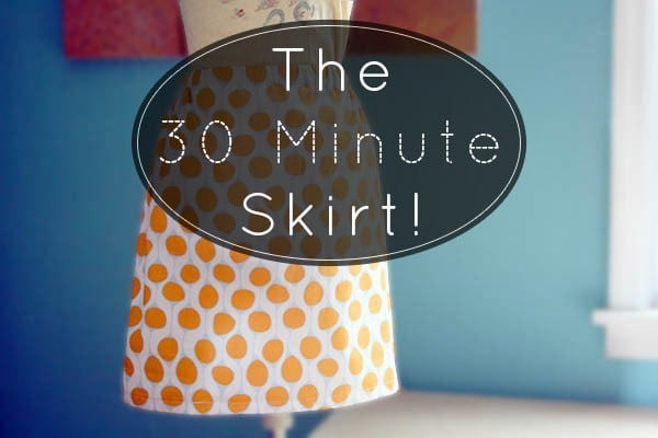 This elastic waist skirt takes about 30 minutes to make. Here's how to make a skirt tailored to your measurements.