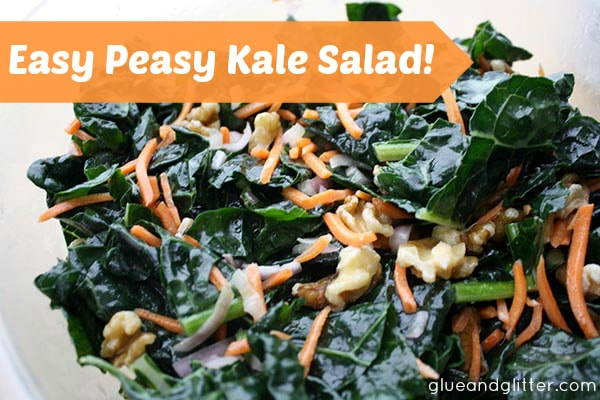 This easy kale salad recipe is so delicious and simple to make - it's become a staple quickie meal on workdays.