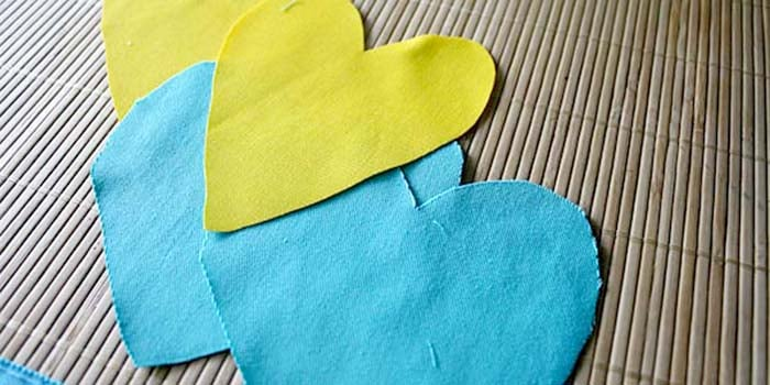 DIY Dryer Sheets Cut Hearts