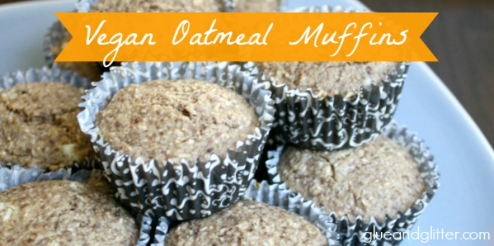 These vegan oatmeal muffins are delicious for grown-ups and a great first finger food for babies, too!