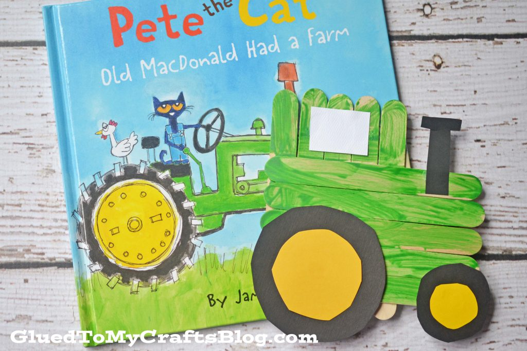 Popsicle Stick Tractor Kid Craft Glued To My Crafts
