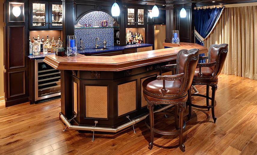 Walnut Wood Bar Top In Flemington New Jersey Duratar Finish