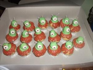 Brain Slug Cupcakes