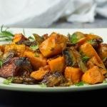 Rosemary Sweet Potatoes and Mushrooms