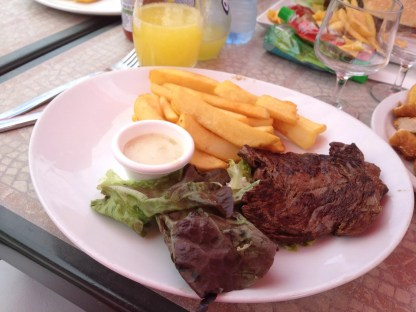More steak