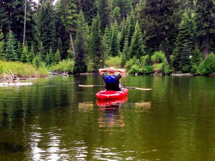 Kayaking with the Current on the Payette River
