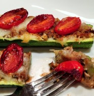 Italian Pesto & Balsamic Zucchini Boats