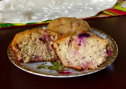 Grain-free Triple-berry Muffins