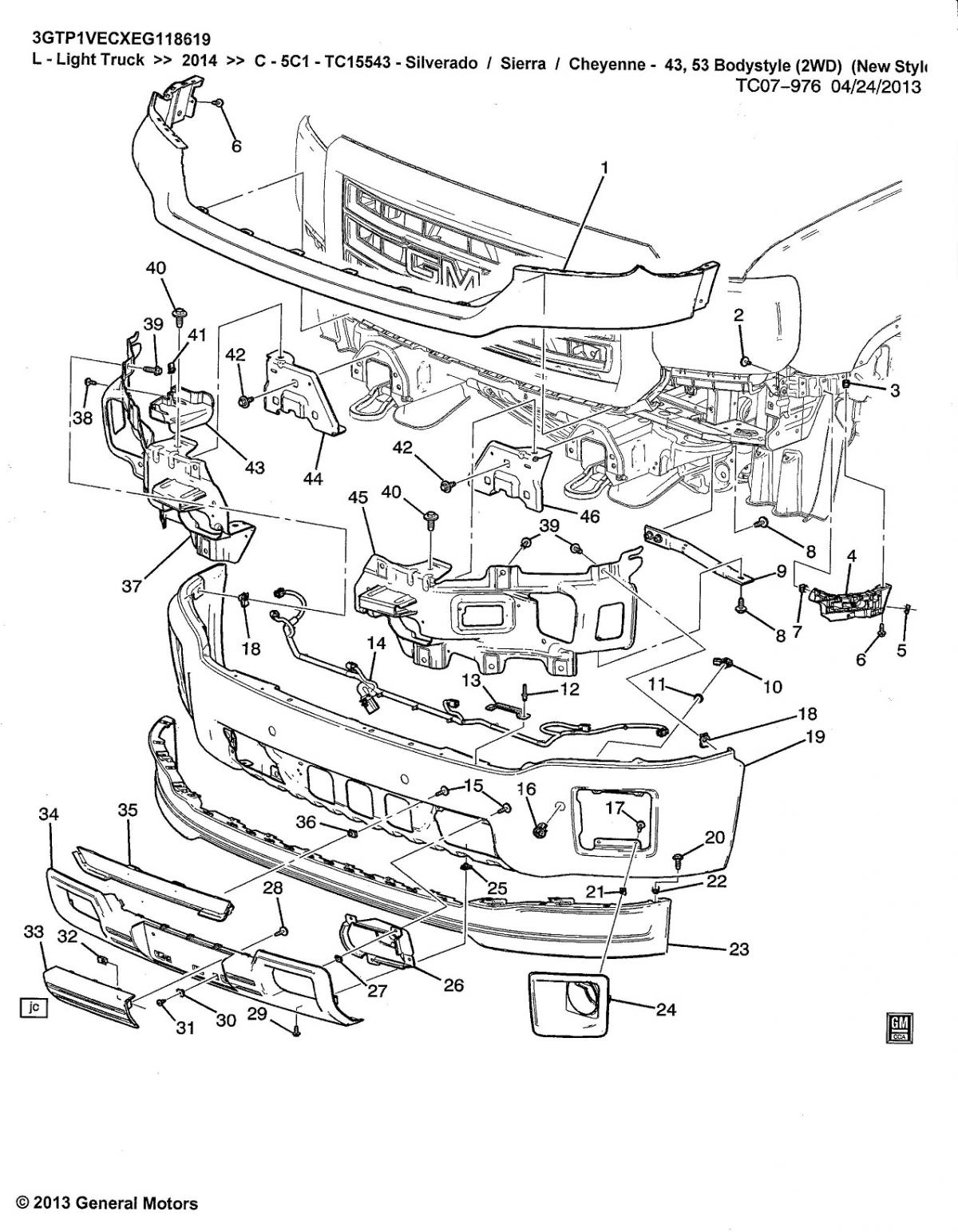 2001 chevy silverado rear bumper wiring diagram