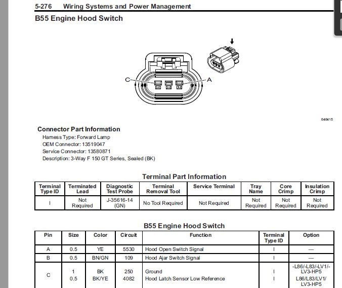 Engine Bay Under hood lights - 2014-2018 Silverado  Sierra Mods