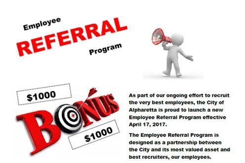 Alpharetta Employee Referral Program - referral employment