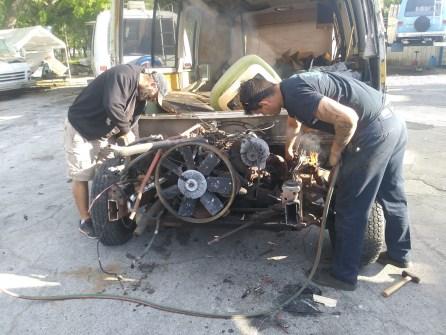 Red Neck motor pull 15