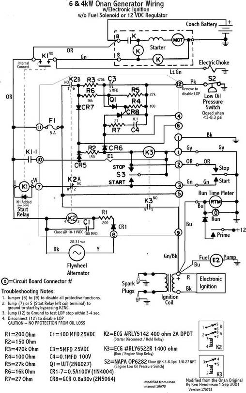 an generator wiring diagram