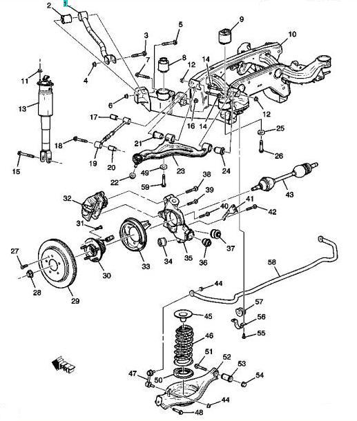 cadillac srx front end diagram wiring diagram