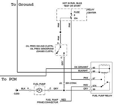 94 Gmc Fuel Pump Diagram Wiring Schematic Diagram