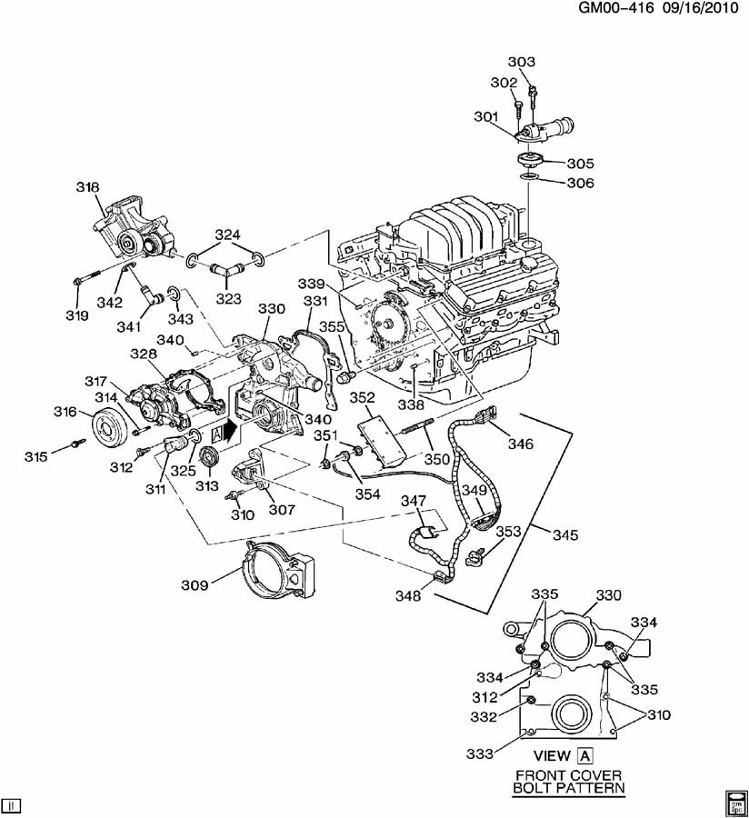 2003 buick rendezvous engine diagram