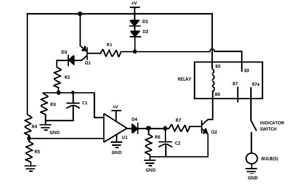 relay flasher circuit