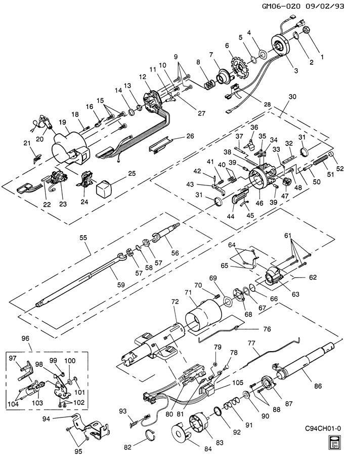 pontiac steering column diagram