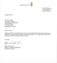 $25,000 Monsanto money letter to Kevin Folta emerges: Univ ...