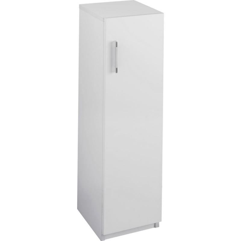 Hygena Single Door Bathroom Floor Cabinet White Gloss