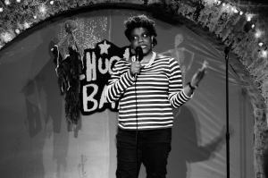 Nichelle Stephens doing Stand Up