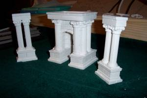 """What lies ahead? These unfinished columns will be a key component to the arena I'm making for the next installment of the Age of Worms, """"The Champion's Belt."""""""