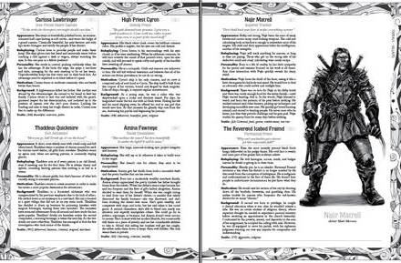 Masks Preview 1: Fantasy NPCs and Lots of Info about the Book