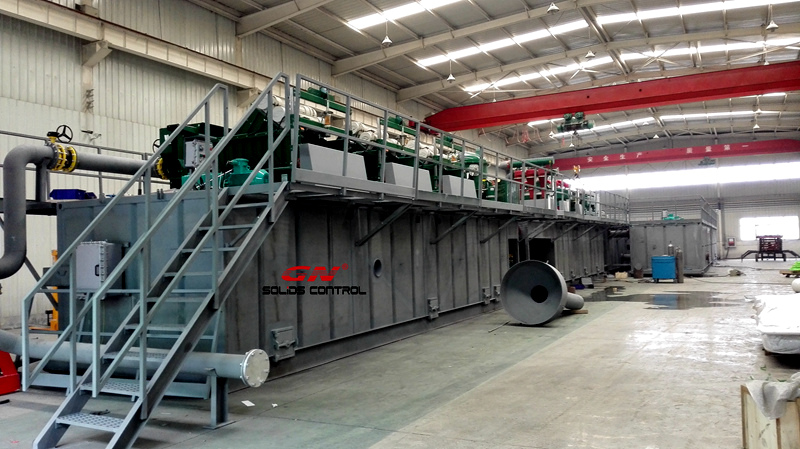 GN Solids Control Provides 1500HP Mud Recycling System for Abroad
