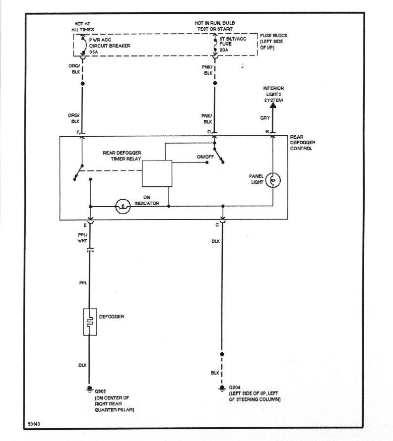 2014 gmc sierra rear defroster wiring diagram