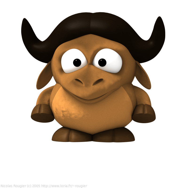 Png 3d Wallpaper 3d Baby Gnu And Tux By Nicolas Rougier Gnu Project