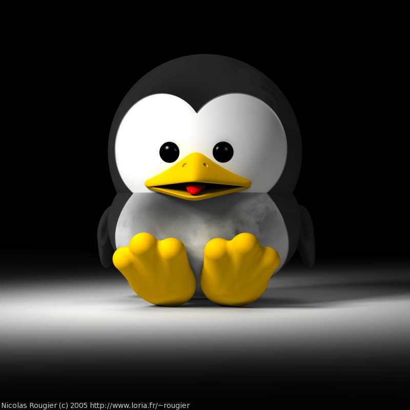 3d Wallpaper Maker Free Download 3d Baby Gnu And Tux By Nicolas Rougier Gnu Project